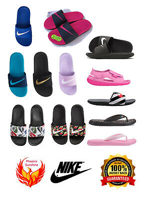 8e6b1a724cbc 🔥🔥🔥NEW Nike Kids Girls Boys Slippers Slide Sandal Flip Flop 11