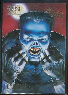 1995 Spider-Man Premiere Gold Signature Trading Card #59 Tombstone