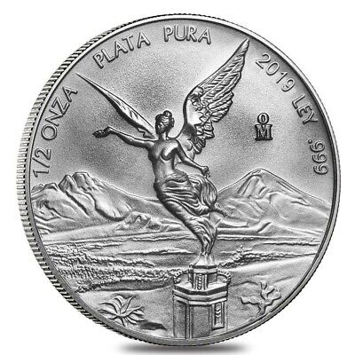 2019 Mexico Libertad 1/2 oz .999 Silver PRE-SALE Round Limited Bullion BU Coin