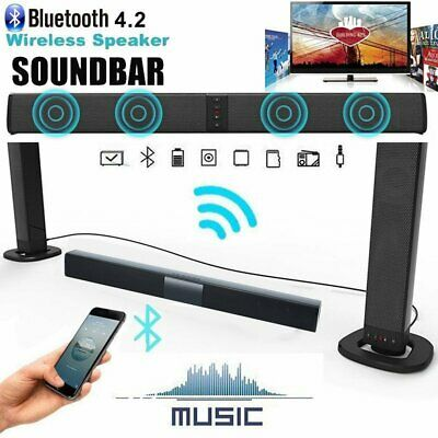 TV Home Theater Soundbar Bluetooth Sound Bar Speaker System Subwoofer w/Remote%