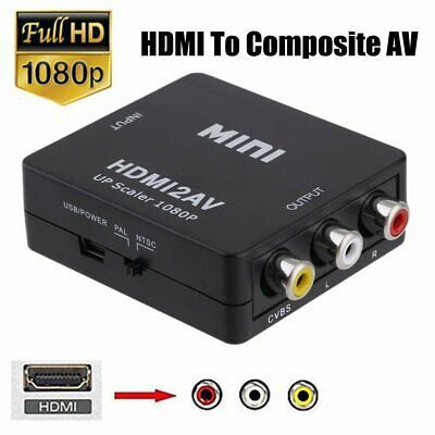 HDMI to Composite AV CVBS 3RCA Video Cable Converter 1080p Downscaling VBR