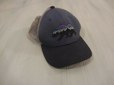 Patagonia Fitz Bear Trucker Hat Cap Mesh Snapback One Size Excellent! d3ceeafc06be