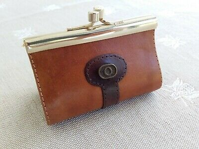 Vintage Oroton Brown Leather Coin Purse