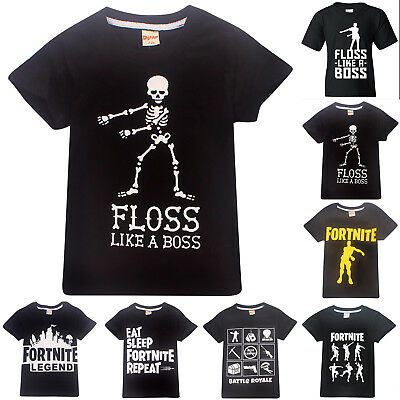 Fortnite Game Kids Boys Xmas Summer T shirts Casual Cotton Tee Top 6-13Years