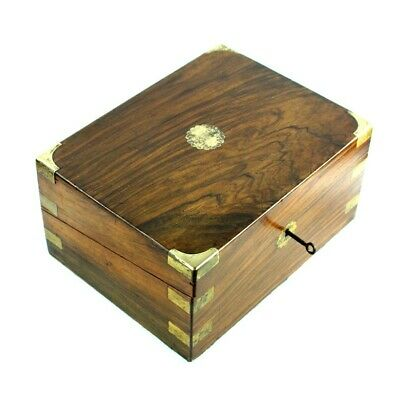 Antique Victorian Rosewood Writing Slope Stationery Box - FREE Shipping [PL4916]