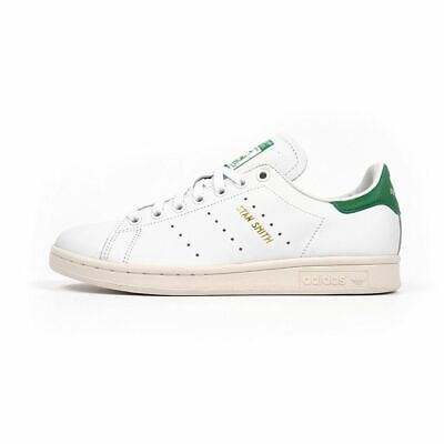 Mens Adidas Original Stan Smith Trainers White/Green Sneakers S75074 UK 12/7.5 S