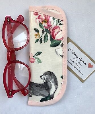 48bf40cfb5b9 Cath Kidston Badgers And Friends Oilcloth Reading/child's Glasses Case  Handmade