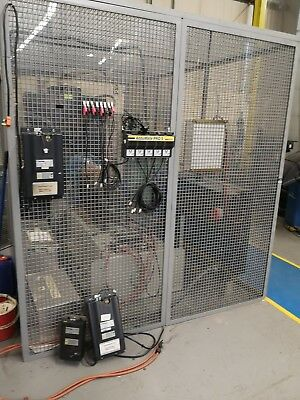 Large cage with inner perspex and door ex uni. clean room cmm  kennel aviary etc