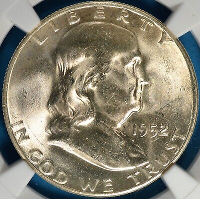 1952-S Franklin Half Dollar NGC MS65- Exceptional Eye Appeal