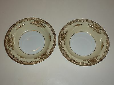 Vintage Noritake Occupied Japan Pair Small Bowls, Gold Tone Florals/Scrolls