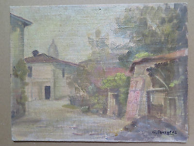 PAINTING ANTIQUE painting OIL ON BOARD ORIGINAL SIGNED LANDSCAPE COUNTRYSIDE p3