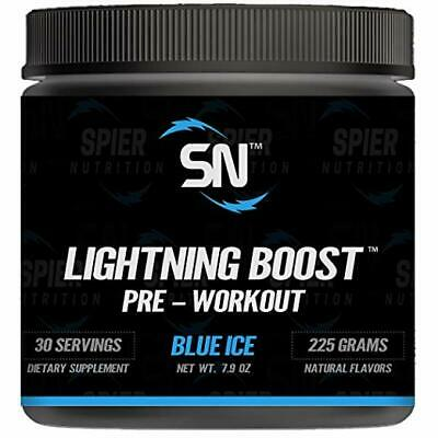 Lightning Boost Pre-Workout by Spier Nutrition Blue Rasberry