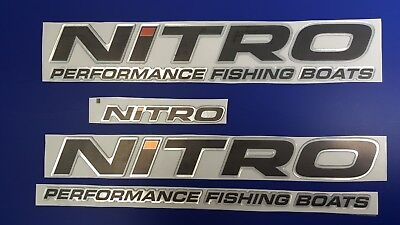 """Nitro boats Emblems 22"""" decal + FREE FAST delivery DHL express"""