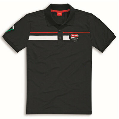 Genuine Ducati Corse Speed Polo Black 987694994 Medium