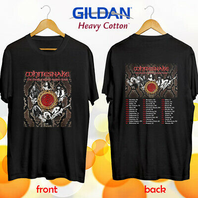 Whitesnake the Flesh and Blood tour concert 2019 tee shirt S-3XL