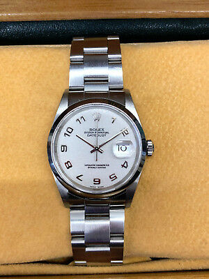 Rolex DateJust 16200 Stainless Steel White Dial - Full Box & Papers