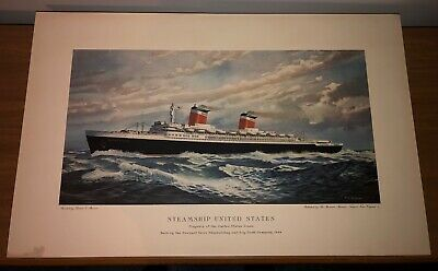 SS United States Print – Thomas C. Skinner – The Mariners' Museum