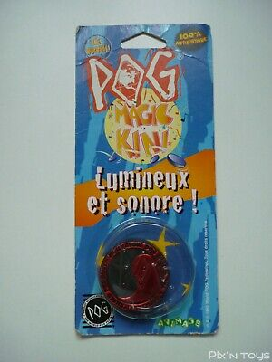 """Booster Pog Magic Kini Rouge """"Lumineux et sonore"""" WPF Pog officiel [ NEW ]"""