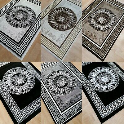 Black Grey Silver Glitter Small Large Rugs Runners And Coffee Table Rugs   2019