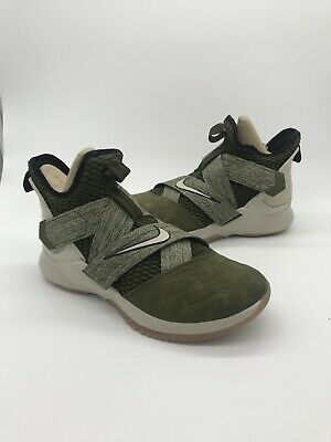 bb3beb75ff3 NIKE LEBRON SOLDIER XII 12 AO2609 300 man olive canvas string shoes ...