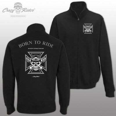 Born to Ride Jacke | Sweatjacke Biker MC Rocker Chopper Motorrad Crazy Rider® 82