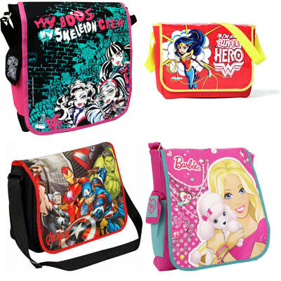 Boys Girls Kids Character Shoulder School Bag Book Cross Body Bag Pack Backpack