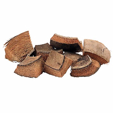 Coconut Shell and Husk Pieces - Pack of 8 100% Natural Chunky Coconut Parrot Toy