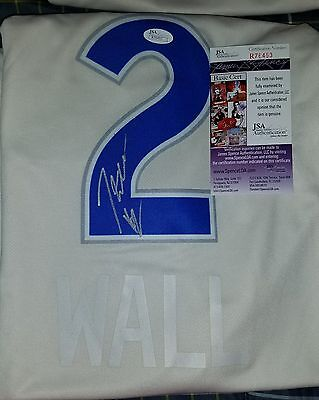 huge discount a3b6a f4cb6 JOHN WALL SIGNED Washington Wizards Jersey Kentucky Wildcats ...