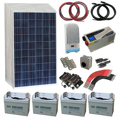 2kW Off-grid Household Solar Power Kit for Remote House Farm Cottage Chalet Hut