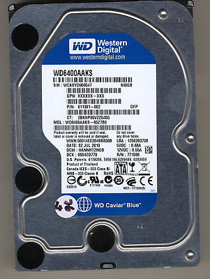 "Western Digital 640GB 7200RPM 3.5"" SATA Desktop Hard Drive WD6400AAKS 611301-002"