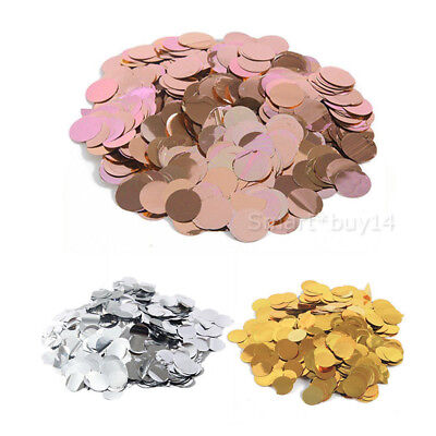 2700Pcs Silver Rose Gold Pink Glitter Round Table Confetti Party Balloon Sequins
