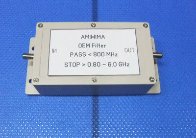 OEM MICROWAVE FILTER PASS BAND < 800MHz STOP BAND >800MHz - 6 GHz  F-female