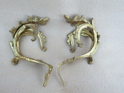 Pair Of Antique French Gilt Metal Rococo Clock Mounts 15.5Cm High