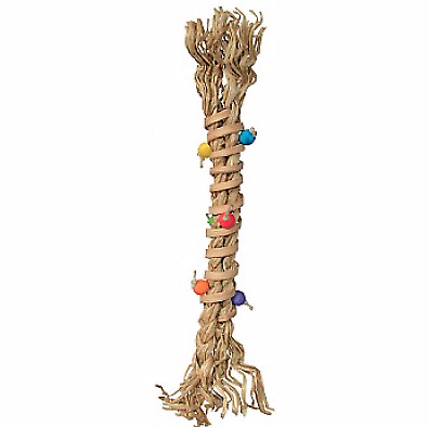 Corkscrew Parrot Foot Toy - Large Yet Lightweight Bundle Of Natural Materials