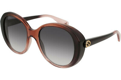 fba5f3b4c6 Gucci Women Sunglasses Oval Acetate GG0368S-003 Brown   Grey Gradient