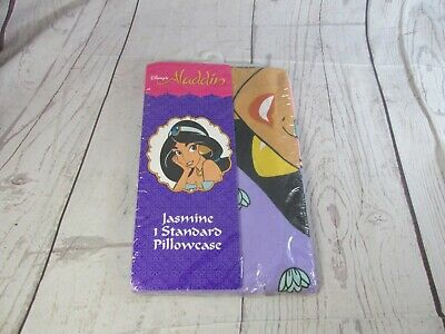 Disney Aladdin Pillow Case Vintage Standard Jasmine Brand new Sealed plastic
