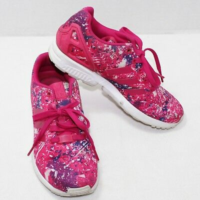 31840dd21bce adidas womens torsion sneakers pink zx flux paint splatter size 6.5 athletic