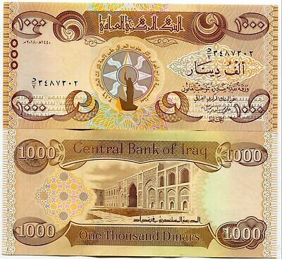 1000 New Iraqi Dinars 2018 with New Security Features - IRAQ DINAR UNC Banknote