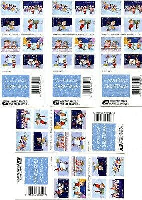 "Usps, 100 First Class Forever ""a Charlie Brown Christmas Stamps"". 5 Books Of 20"