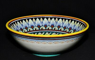 "Deruta Italy Dipinto A Mano (Hand Painted) Majolica 10"" Serving Bowl XLNT"