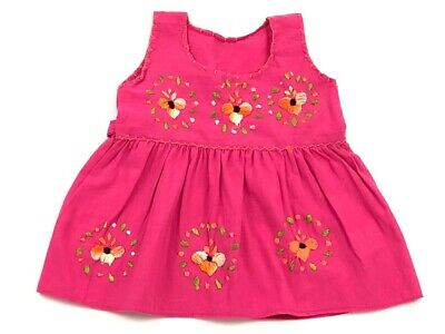 79fec3fa56 Mexican Handmade Floral Dress For Baby Girl (Vestido Mexicano Para Bebe  Bordado)
