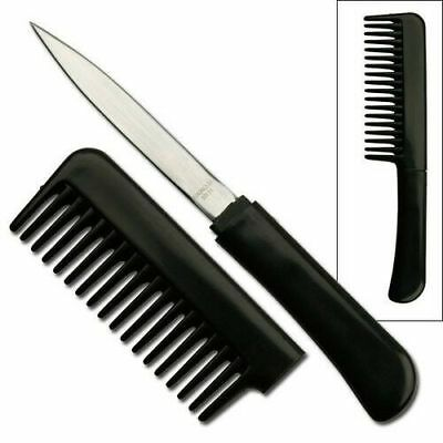 NEW covert concealed comb knife self defense security knife