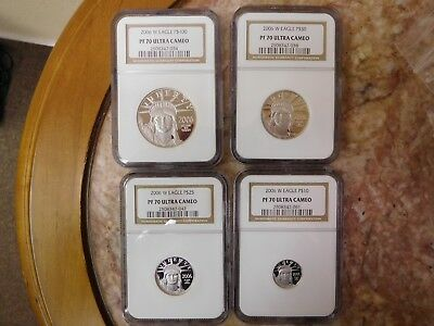 2006-W Proof Platinum American Eagle 4 coin Set NGC PF-70 Ultra Cameo  RARE