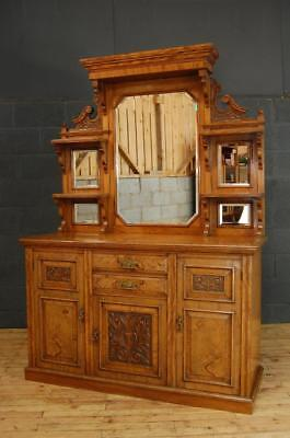 Large Antique 19th Century Victorian Walnut Sideboard