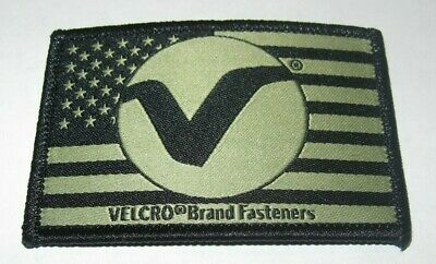 Velcro Brand Fasteners Flag Morale Patch Embroidered Hook Backed Black Tan V