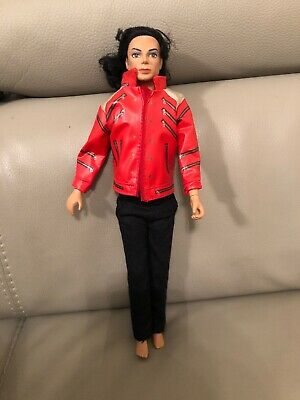 """Michael Jackson Beat It outfit for 12"""" Black & White for singing doll cassette"""