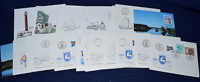 Aland Collection of 27 First Day covers & Cards 1984-1989 All Scanned