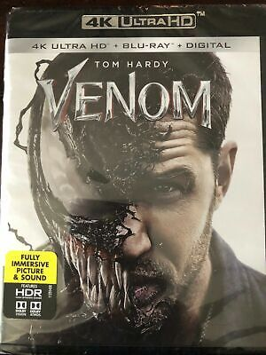 Venom (2018 4K Ultra Hd + Blu-Ray) Marvel Tom Hardy - No Slipcover Or Digital