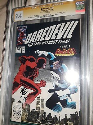 Signed Daredevil #257 CGC 9.4 SS by John Romita Jr. - 08/1988 - White Pages