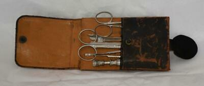 Antique Medical Pocket / Belt Field Kit in Leather Case
